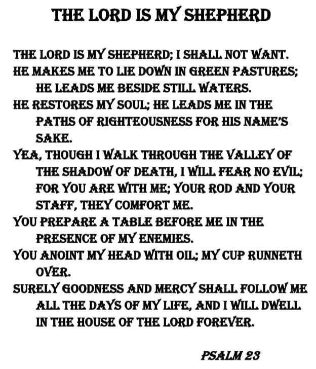 23rd Psalm 8″x10″